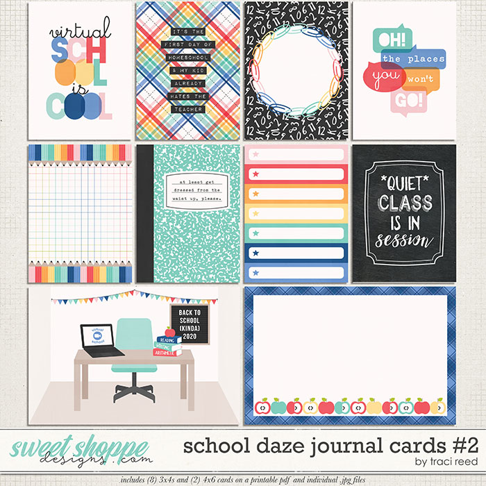 School Daze Journal Cards #2 by Traci Reed