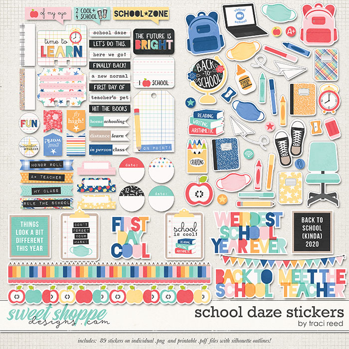 School Daze Stickers by Traci Reed