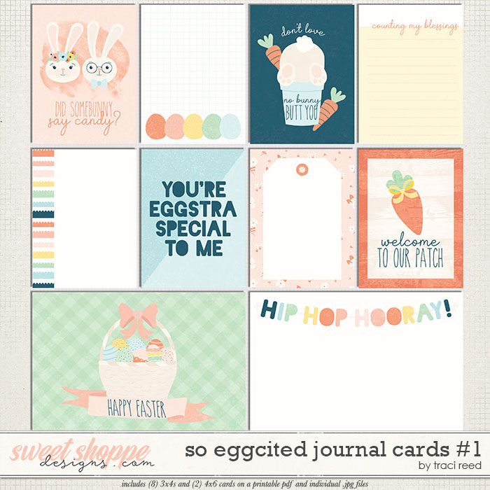 So Eggcited Journal Cards 1 by Traci Reed