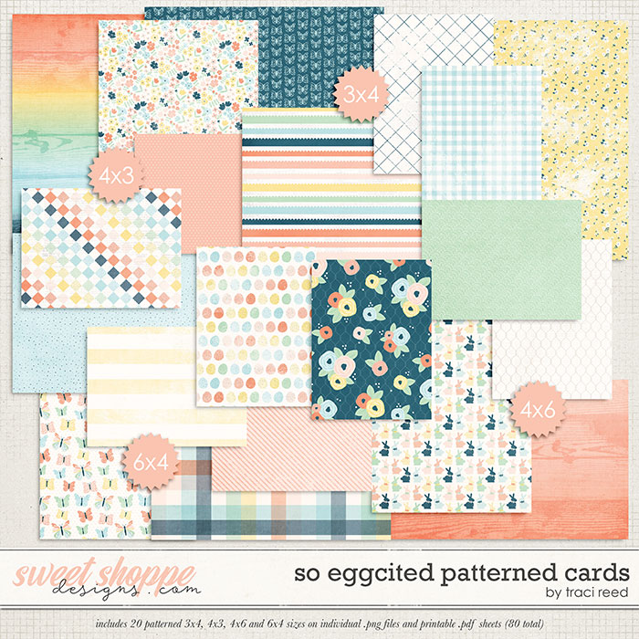So Eggcited Patterned Cards by Traci Reed