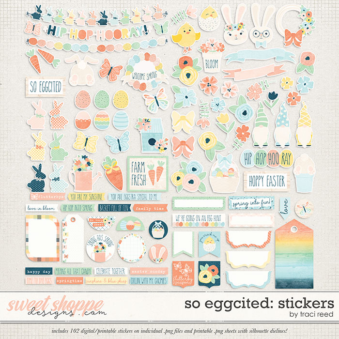 So Eggcited Stickers by Traci Reed