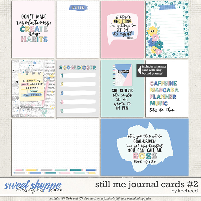 Still Me Journal Cards #2 by Traci Reed
