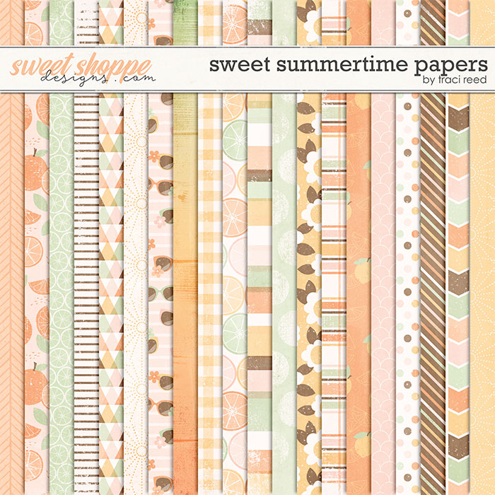 Sweet Summertime 12x12 Papers by Traci Reed