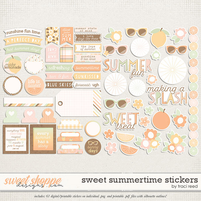 Sweet Summertime Stickers by Traci Reed