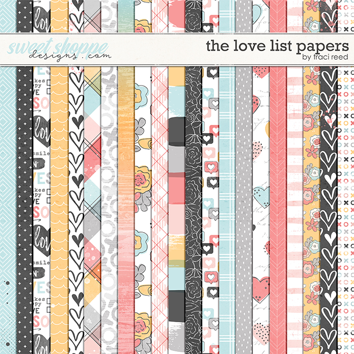 The Love List 12x12 Papers by Traci Reed