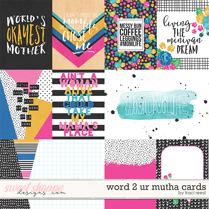 Word 2 Ur Mutha Cards by Traci Reed