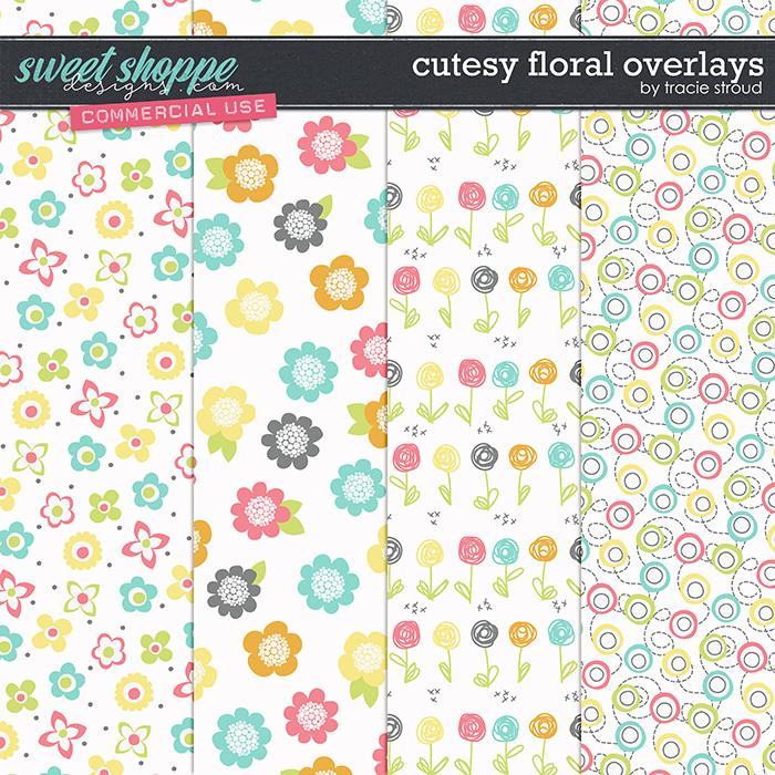 CU Cutesy Floral Overlays by Tracie Stroud