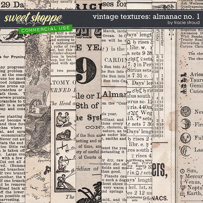 CU Vintage Textures: Almanac no. 1 by Tracie Stroud