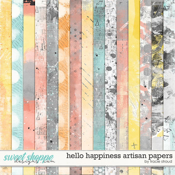 Hello Happiness Artisan Papers by Tracie Stroud