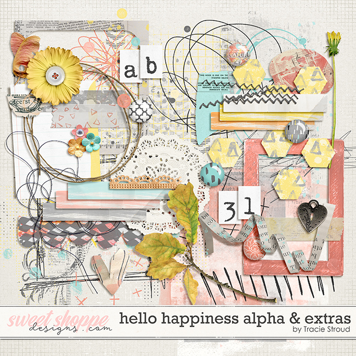 Hello Happiness Alpha & Extras by Tracie Stroud