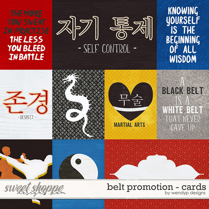 Belt promotion - cards by WendyP Designs