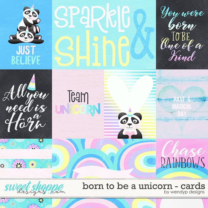Born to be a unicorn - cards by WendyP Designs