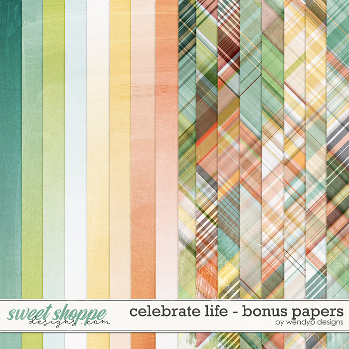 Celebrate Life - Bonus papers by WendyP Designs