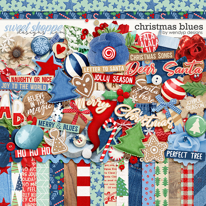 Christmas Blues by WendyP Designs