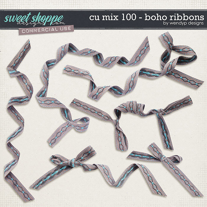 CU Mix 100 - Boho Ribbons by WendyP Designs