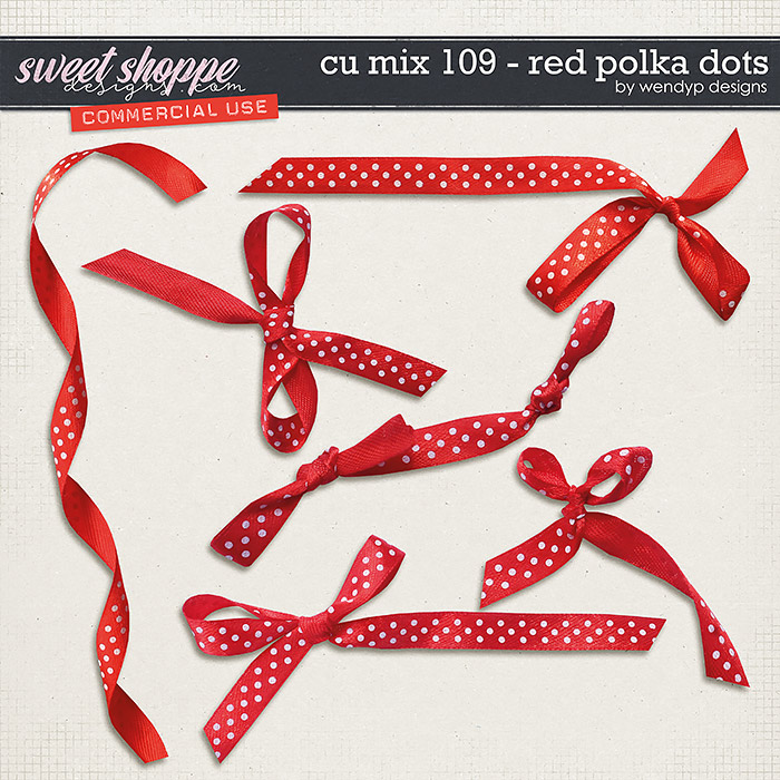 CU Mix 109 - Red polkadots by WendyP Designs
