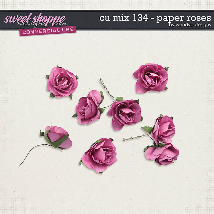 CU Mix 134 - Paper roses by WendyP Designs