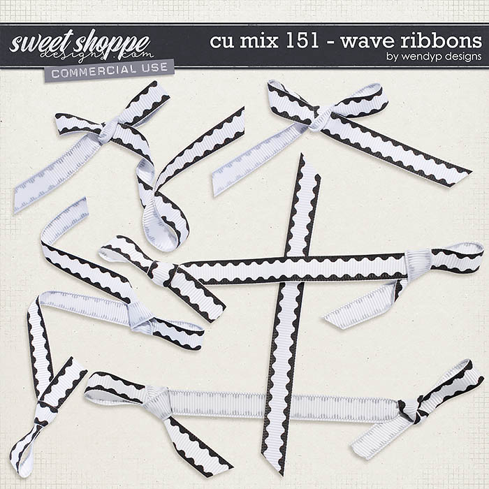 CU Mix 151 - wave ribbons by WendyP Designs