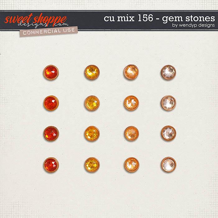 CU Mix 156 - gem stones by WendyP Designs