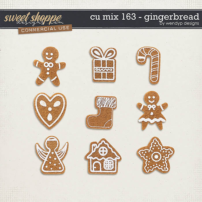 CU Mix 163 - Gingerbread by WendyP Designs
