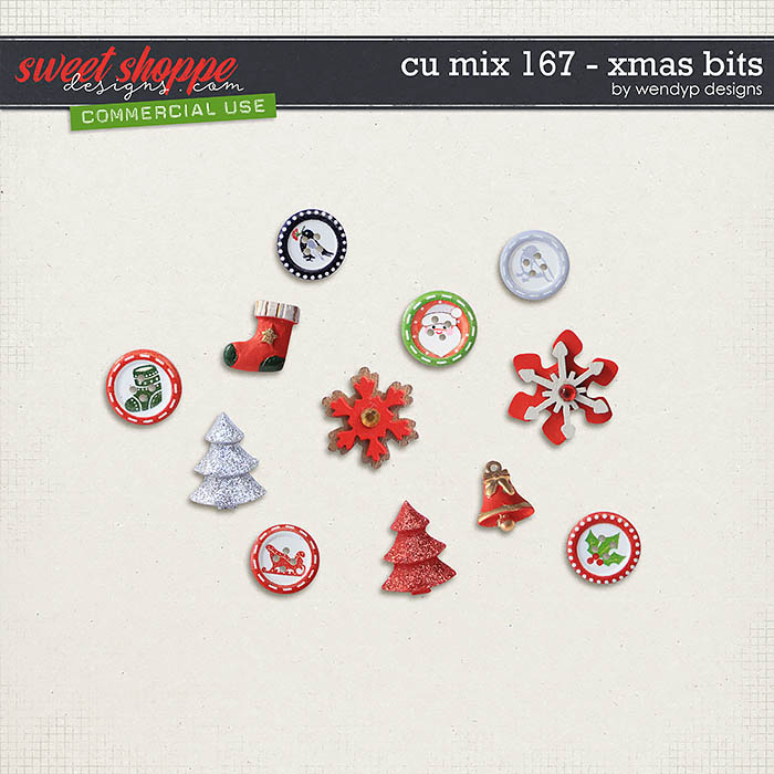 CU Mix 167 - X-Mas bits by WendyP Designs