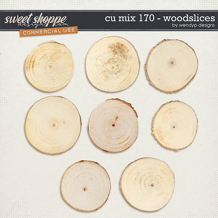CU Mix 170 - wood slices by WendyP Designs
