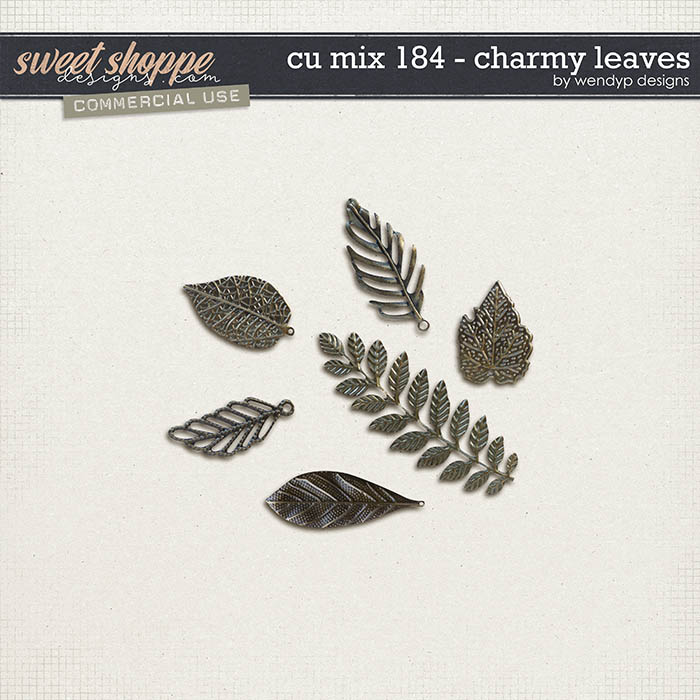 CU Mix 184 - charms leafs by WendyP Designs