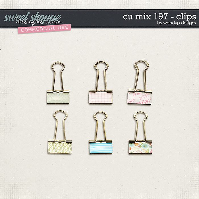 CU Mix 197 - clips by WendyP Designs