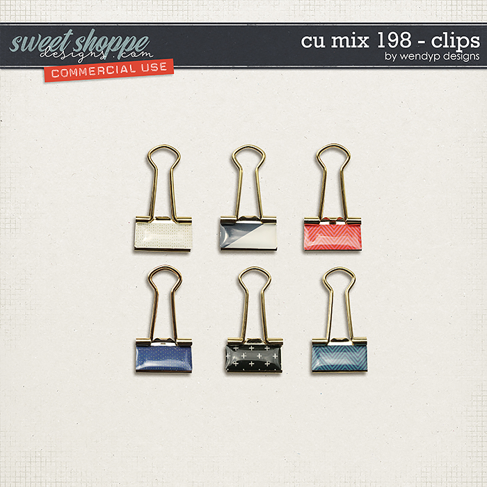 CU Mix 198 - clips by WendyP Designs