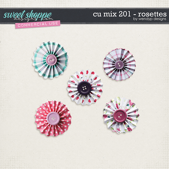 CU Mix 201- rosettes by WendyP Designs