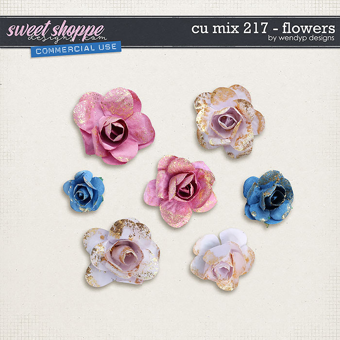 CU mix 217 - flowers by WendyP Designs