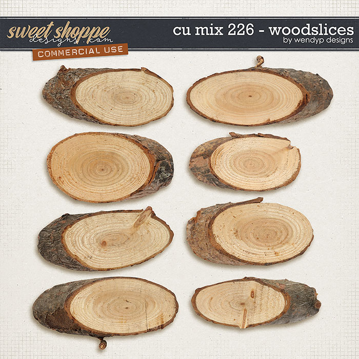 Cu Mix 226 - Wood slices by WendyP Designs