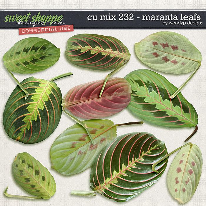 CU Mix 232 - Maranta Leafs by WendyP Designs
