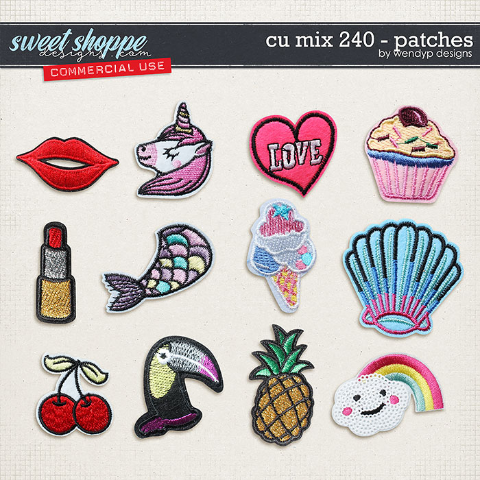 CU Mix 240 - patches by WendyP Designs