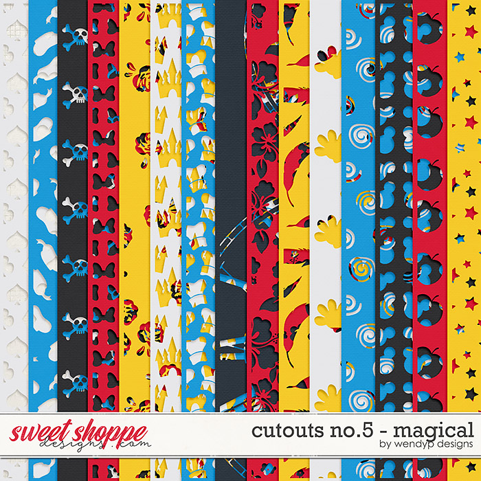 Cut outs No.5 - Magical by WendyP Design