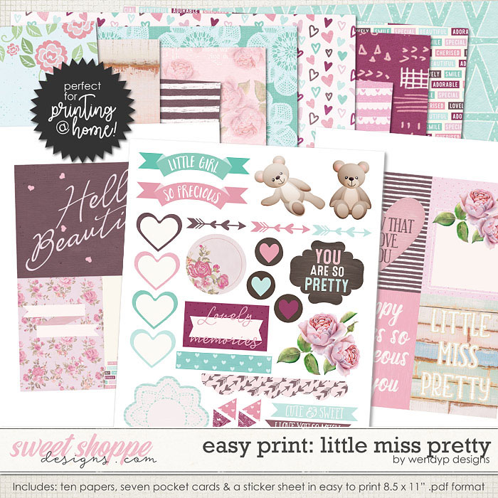 Easy Print: Little Miss Pretty by WendyP Designs