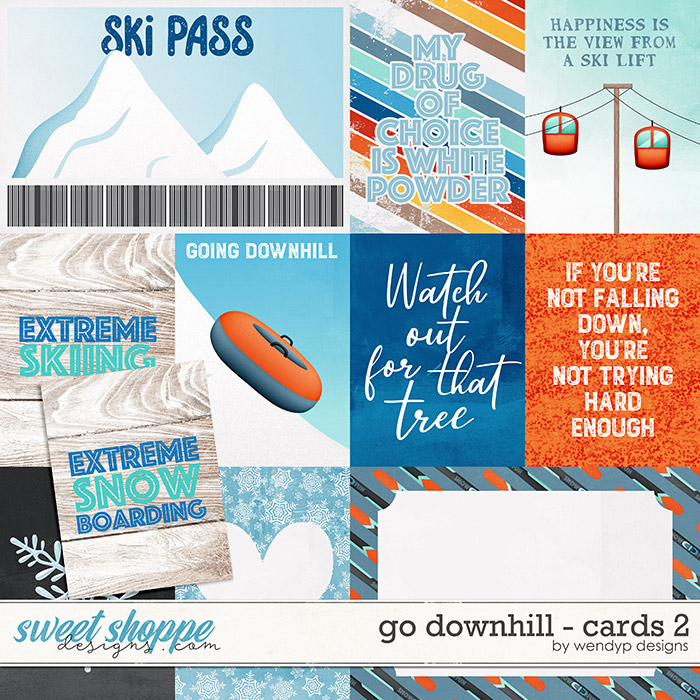 Go Downhill - Cards 2 by WendyP Designs