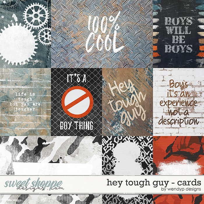 Hey tough guy - Cards by WendyP Designs
