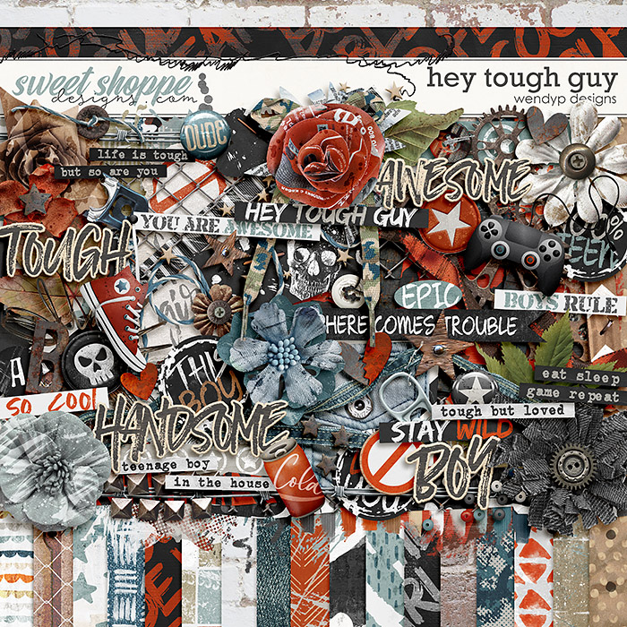 Hey tough guy by WendyP Designs
