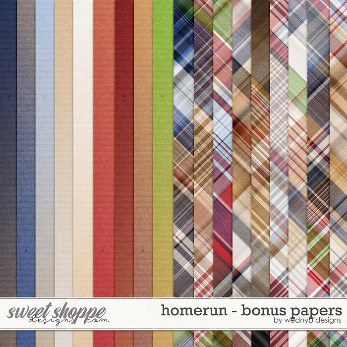 Homerun - Bonus papers by WendyP Designs
