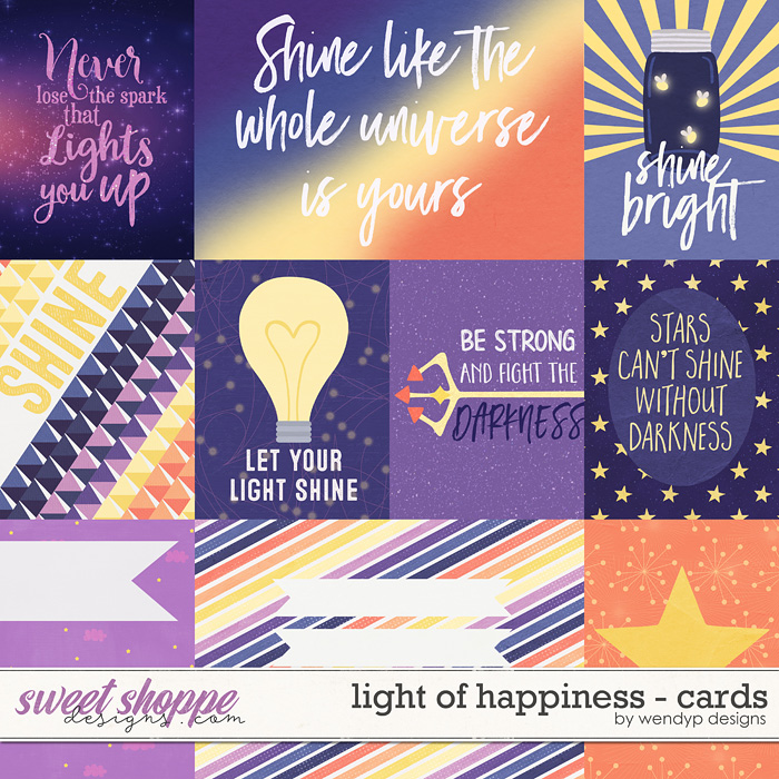 Light of happiness - cards by WendyP Designs