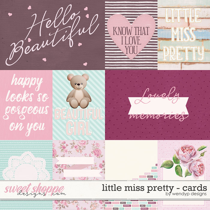 Little miss pretty - cards by WendyP Designs