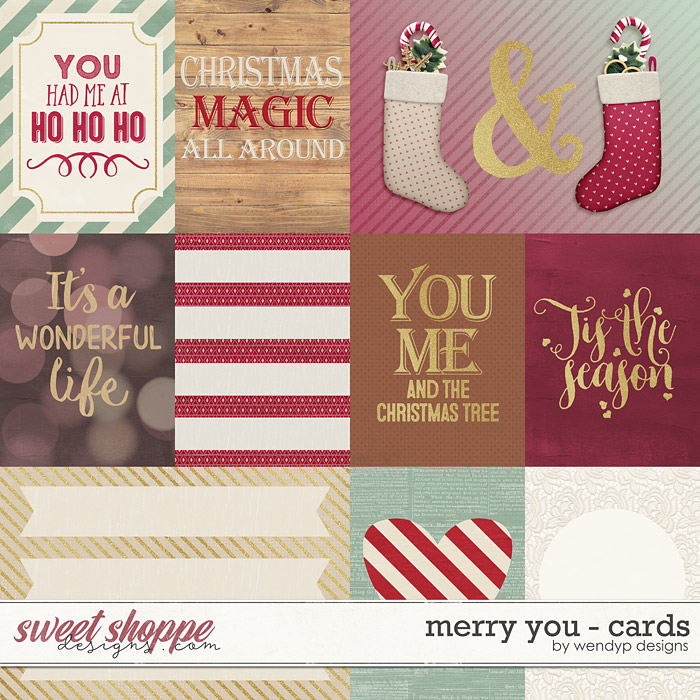 Merry you - cards by WendyP Designs