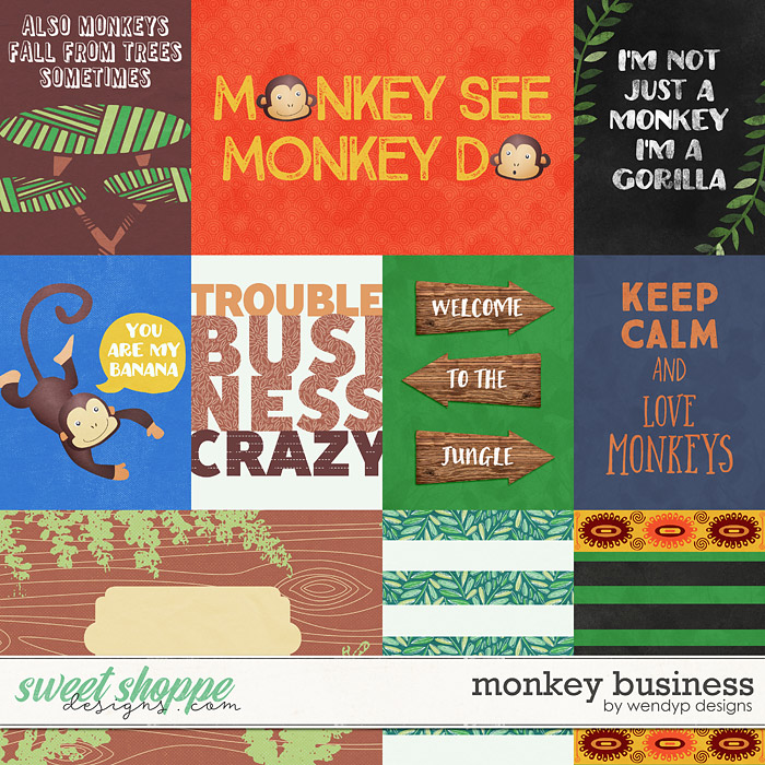 Monkey Business - Cards by WendyP Designs