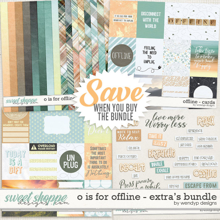 O is for Offline - Extra's Bundle by WendyP Designs