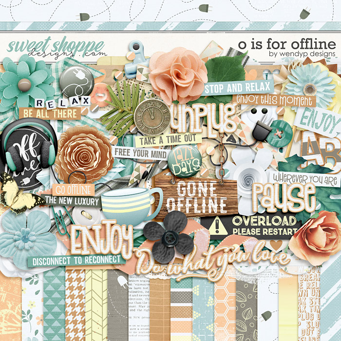 *FREE with your $10 Purchase* O is for Offline by WendyP Designs