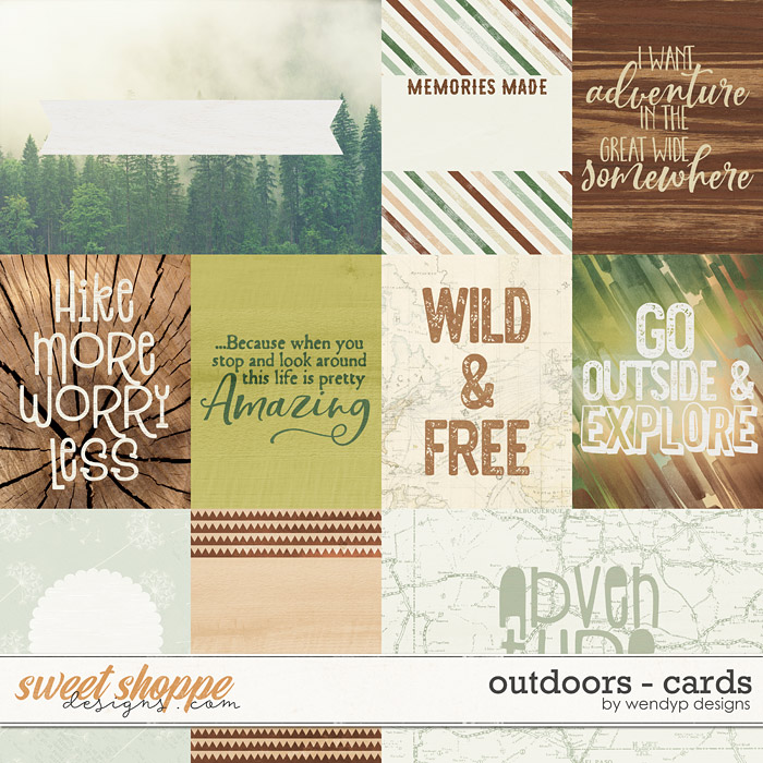 Outdoors - cards by WendyP Designs