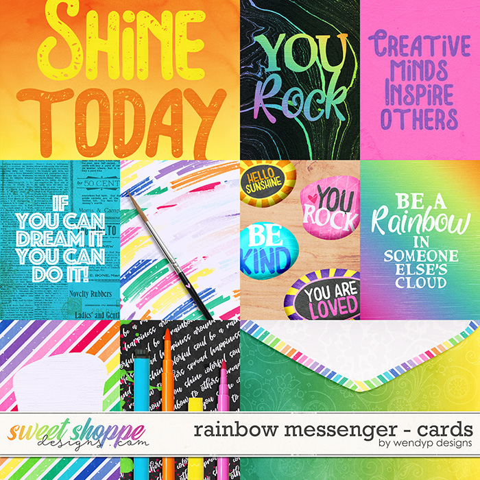 Rainbow Messenger - cards by WendyP Designs