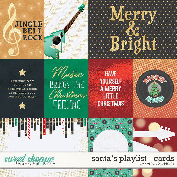 Santa's playlist - cards by WendyP Designs