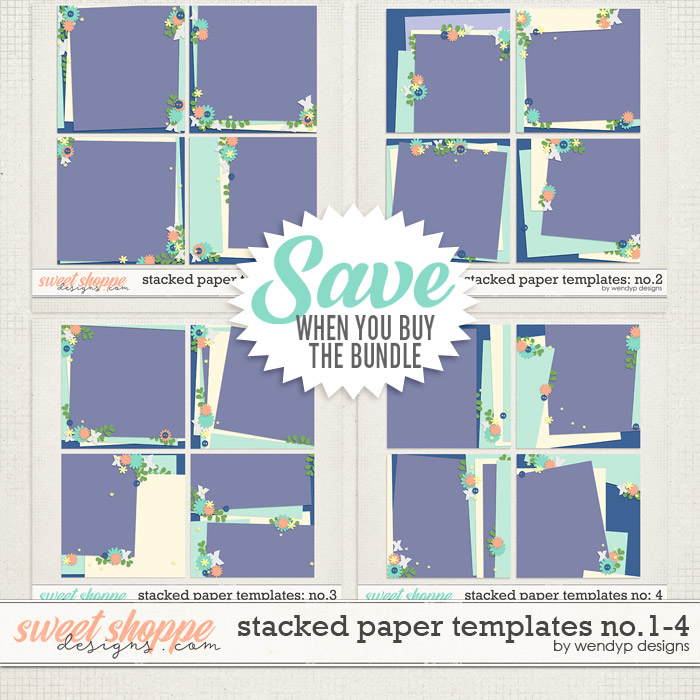 Stacked paper templates no. 1 - 4 by WendyP Designs